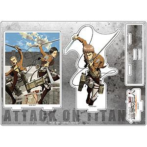進撃の巨人 アクリルジオラマ (ジャン、コニー、マルコ)