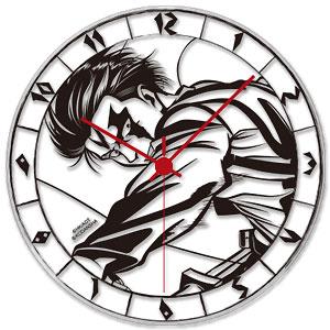 進撃の巨人 アクリル壁掛時計 リヴァイ アニメ・キャラクターグッズ新作情報・予約開始速報