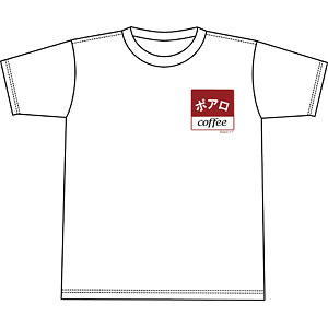 名探偵コナン 喫茶ポアロシリーズ Tシャツ ワンポイント・スクエアロゴ M
