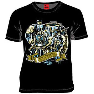 MARS16×キン肉マン 飛翔チーム Tシャツ ブラック S