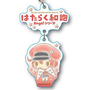 2連キーホルダー はたらく細胞 Angelシリーズ -Design produced by Sanrio- 赤血球