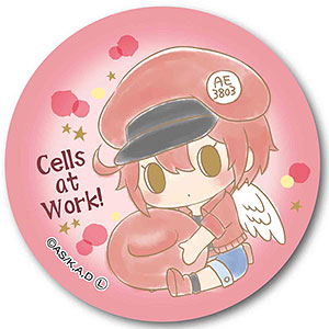 ぎゅぎゅっと缶バッチ はたらく細胞 Angelシリーズ -Design produced by Sanrio- 赤血球
