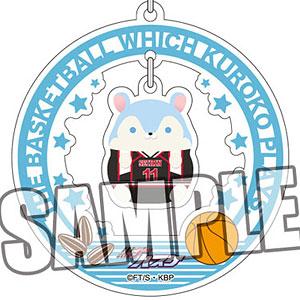 黒子のバスケ チャーム付きアクリルキーホルダー「黒子テツヤ」もちもちハムスターコレクションVer.