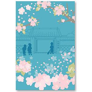 忍たま乱太郎 御朱印帳 忍術学園と桜
