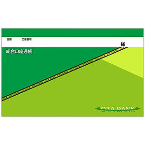 推し彼通帳(グリーン&ライトグリーン)