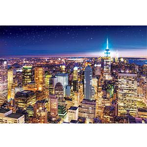 ジグソーパズル 世界風景 ニューヨークの夜景-アメリカ 1000ピース (10-809)