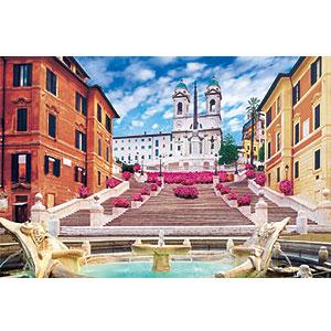 ジグソーパズル 世界風景 スペイン広場-イタリア 1000ピース (10-810)