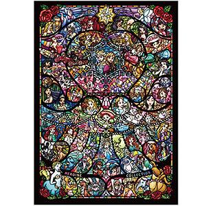 ジグソーパズル ディズニー&ディズニー/ピクサー ヒロインコレクション ステンドグラス 1000ピース (DW-1000-005)