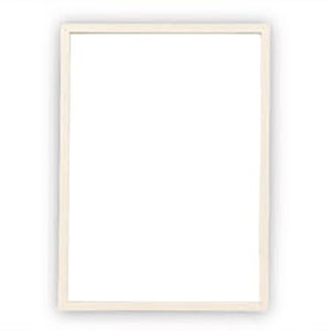 A4クリアファイル専用フレーム(ホワイト)