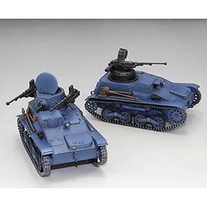 1/35 ガールズ&パンツァー リボンの武者九四式軽装甲車 鬼チーム スーパー改&無人砲塔仕様 2台セット プラモデル