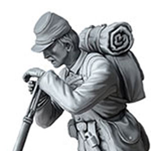 1/35 南北戦争・北軍ポトマック軍歩兵1体・戦闘後・1863年 プラモデル