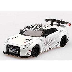 1/64 LB★WORKS Nissan GT-R R35 タイプ1 リアウイング バージョン 1+2 ホワイト (右ハンドル)