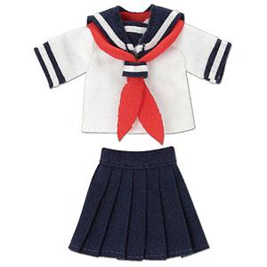 ピコニーモ用 1/12 半袖セーラー服セットII ネイビー×レッド (ドール用)