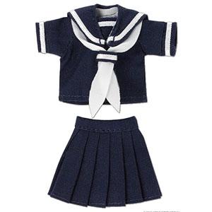 ピコニーモ用 1/12 半袖セーラー服セットII ネイビー×ホワイト (ドール用)