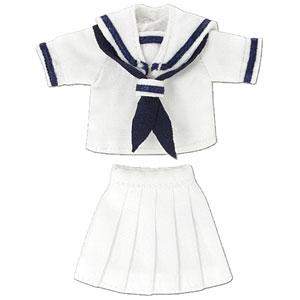 ピコニーモ用 1/12 半袖セーラー服セットII ホワイト×ネイビー (ドール用)