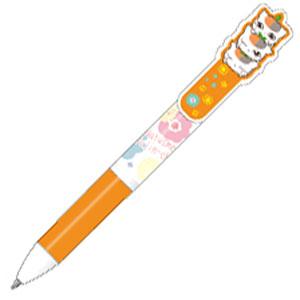 夏目友人帳 ニャンコ先生の3色ボールペン オレンジ