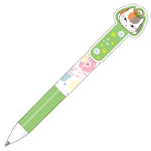 夏目友人帳 ニャンコ先生の3色ボールペン キミドリ