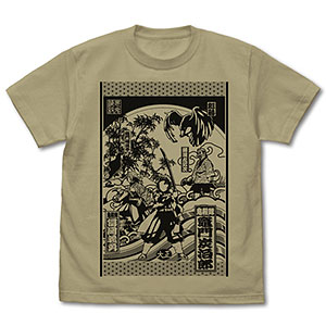 鬼滅の刃 Tシャツ/SAND KHAKI-M