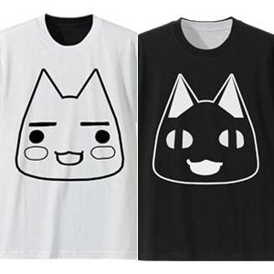 どこでもいっしょ リバーシブルTシャツ/WHITE×BLACK-XL