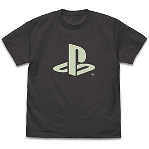 """プレイステーション 蓄光Tシャツ """"PlayStation""""/SUMI-XL"""