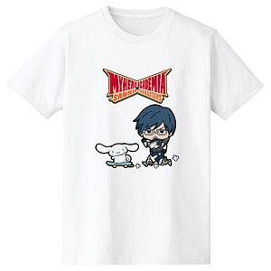 僕のヒーローアカデミア × サンリオキャラクターズ 飯田天哉 × シナモロール Tシャツ メンズ L