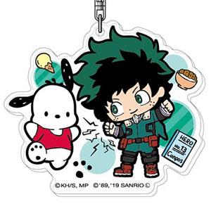アクリルキーホルダー 僕のヒーローアカデミア×サンリオキャラクターズ01 緑谷出久×ポチャッコAK