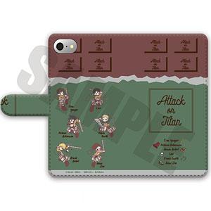 進撃の巨人 手帳型スマホケース(iPhone6Plus/6sPlus/7Plus/8Plus)SWEETOY-A