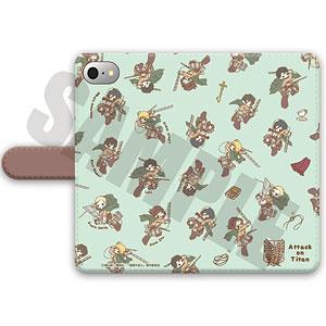 進撃の巨人 手帳型スマホケース(iPhoneXS MAX)SWEETOY-B