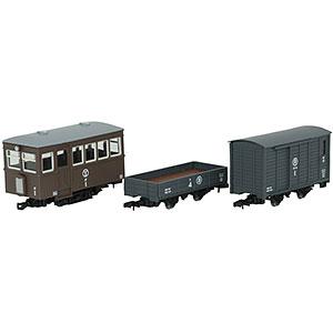 鉄道コレクション ナローゲージ80 猫屋線 ジ1・ト4・ワフ1 茶色塗装