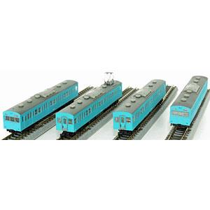 T022-12 国鉄 103系 スカイブルー 低運転台タイプ 4両基本セット