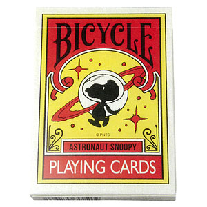 BICYCLE PLAYING CARDS ASTRONAUT SNOOPY (トランプ)