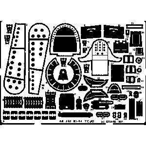 1/48 中島 キ44 鍾馗 エッチングパーツ (H社用)