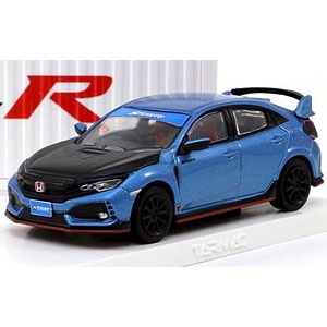 1/64 Honda Civic Type R FK8 Brilliant Blue / Black Bonnet with container display case