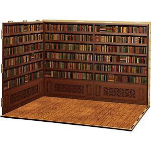 ジオラマルームLセット010「書庫-A01」(シール貼付け済)