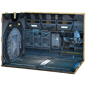 ジオラマルームLセット013「宇宙船-A01」(シール貼付け済)