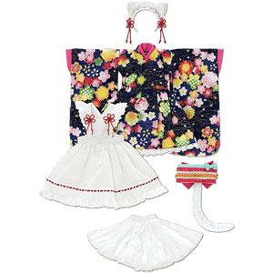 1/6 ピュアニーモ用 PNS ねこみみ和装メイドセットIII 紺 (ドール用)