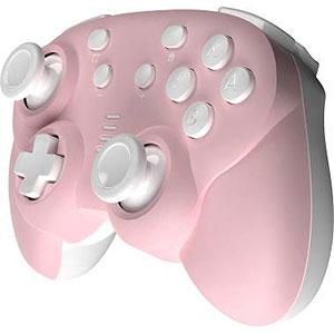 ジャイロコントローラー ミニ 無線タイプ ピンク×ホワイト (Switch用)