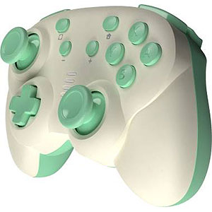 ジャイロコントローラー ミニ 無線タイプ クリーム×ライトグリーン (Switch用)