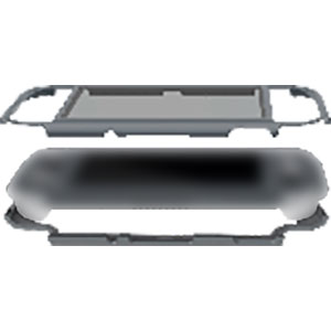 ガラスパネル付き マグネットバンパー グレー (SwitchLite用)