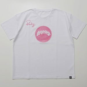 ラブライブ!サンシャイン!! Aqours Sunshine Logo TEE RUBY PNK Unisex M