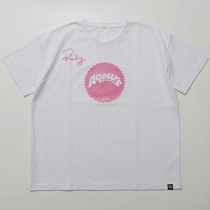 ラブライブ!サンシャイン!! Aqours Sunshine Logo TEE RUBY PNK Unisex XL