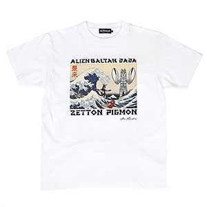 ウルトラ怪獣 浮世絵 Tシャツ(WHT)XL