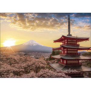 ジグソーパズル 春暁の富士山と桜(山梨) 500ピース(05-1023)