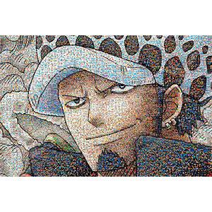 ジグソーパズル ワンピースモザイクアート ロー 1000ピース(1000-584)