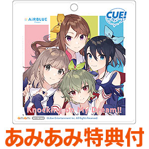 【あみあみ限定特典】CD AiRBLUE Flower / CUE! Team Single 01「Knocking on My Dream!!」