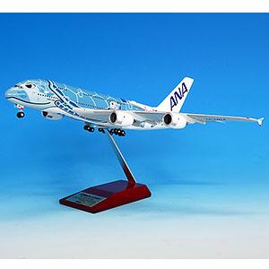 NH20162 1/200 A380 JA381A FLYING HONU ANAブルー完成品(WiFiレドーム・ギアつき)