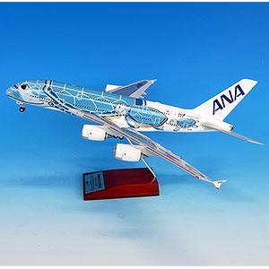 NH20163 1/200 A380 JA381A FLYING HONU ANAブルースナップフィットモデル(WiFiレドーム・ギアつき)