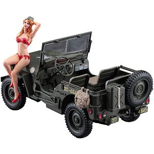 1/24 1/4トン 4×4トラックw/ブロンドガールズフィギュア プラモデル