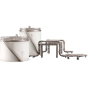 工業地帯A(貯蔵タンク) プラモデル