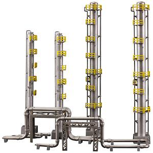 工業地帯B(蒸留塔) プラモデル